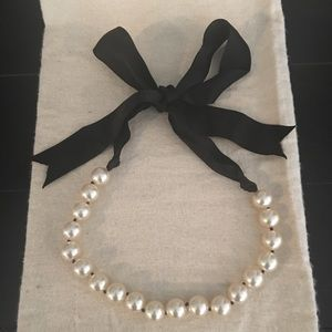 Jcrew pearl and ribbon necklace